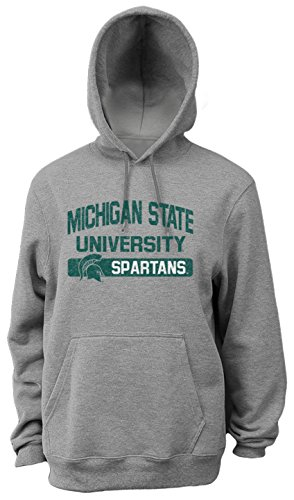 NCAA Michigan State Spartans Herren Pro Weight College Logo Fleece Hoodie, Herren, weiß, X-Large