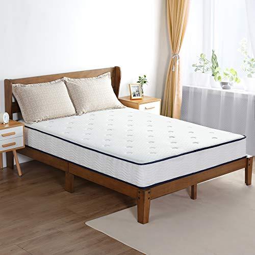 Olee Sleep 9 Inch Breeze Gel Infused Memory Foam Innerspring Mattress, Mattress in a Box, CertiPUR-US Certified, Queen