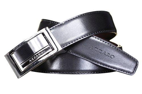 AZZARO - Ceinture 2442 Reversible Noir/Marron - Couleur Noir - Taille Ajustable