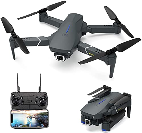 EACHINE E520, Drone con Camara 4k WiFi 4K para Adultos Drone FPV HD 5.8 GHz, WiFi App, 250m FPV Distancia, Selfie Drone con 4K, Drone Profesionales, Gran Angular Drone