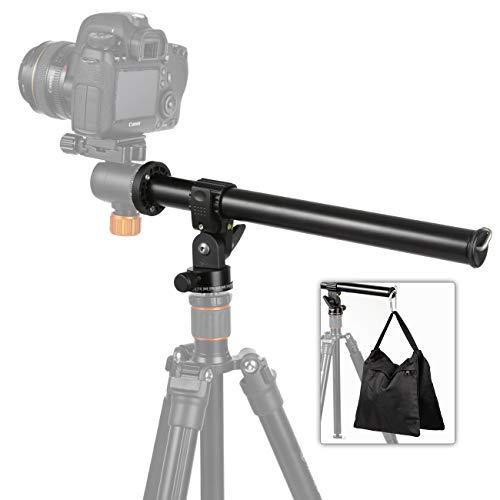 TARION Stativ Auslegearm Kamera Transversal Mittelsäule mit 360° Kugelkopf und Stativtasche für Fotografie (Kameraauslegearm)