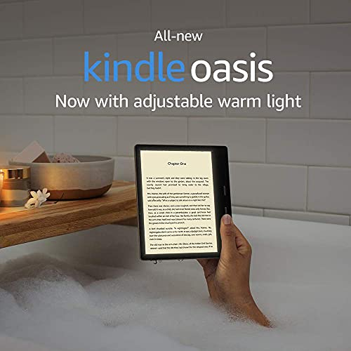 Kindle Oasis Essentials Bundle includes Kindle Oasis 7' E-reader (8 GB, Graphite), Amazon Premium Leather Cover, and Amazon 9W Power Adaptor