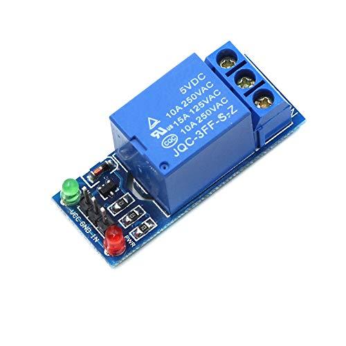 ZZQQ Módulo de relevo Módulo de relé de 5V bajo Nivel de Disparo Un Canal Protector de la Placa de Interfaz para el Voltaje de Control