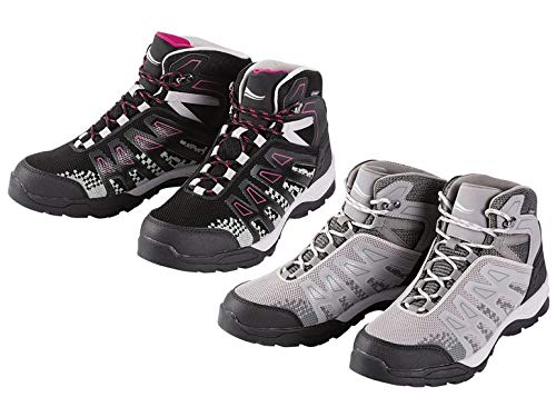 Crivit Damen Trekkingschuhe Wanderschuhe Outdoorschuhe Schuhe Warterproof (37, schwarz/pink)