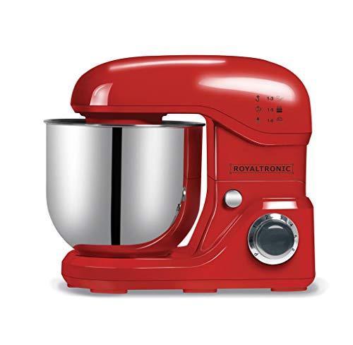 Küchenmaschine 8 Liter 2000 W max. Rot Royaltronic