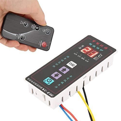 Controlador de temperatura ABS retardante de llama AC220V, controlador de termostato digital, calentador eléctrico de temperatura de medida para electrónica(XD-016 black)