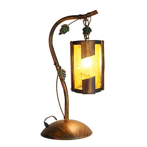 Lampes de table café en Bambou américain Lampe de Chevet Lampe de Chevet rétro Fer E27 48 * 24 cm (19 * 9inch) A+