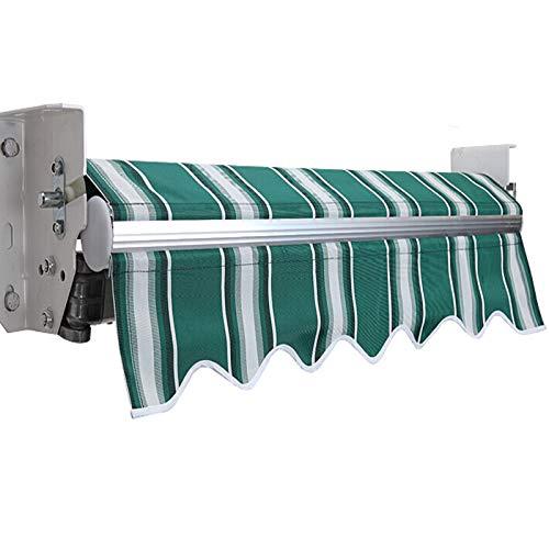 LWH Toldo de Sol,marquesina,marquesina Exterior,150X150CM expansión Manual Plegable y fácil de Instalar Resistente al Agua y a los Rayos UV,Inclinación Libre de 30-70°