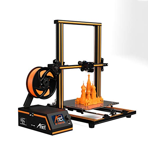 2019 Anet Upgraded E16 geïntegreerde desktop FDM metalen 3D Printer Kits met groot 12864 LCD-scherm en grote bulid volume 300x300x400mm