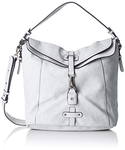 Tamaris Damen Bernadette Hobo Bag Schultertasche, Grau (Light Grey), 14x30x32 cm