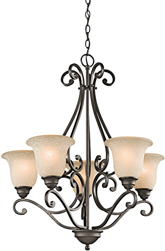 Kichler 43224OZ Camerena Chandeliers Lighting, Olde Bronze 5-Light (27  W x 31  H) 500 Watts