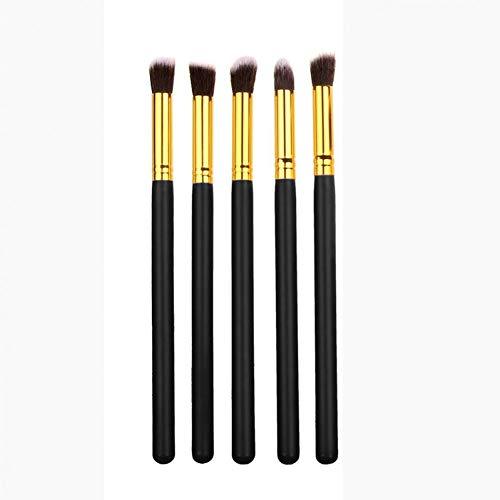 AHEFA5Pcs Fard À Paupières Maquillage Pinceau Ensemble Fusionné Mélange Smoky Ombrage des Yeux Surligneur Pinceaux Doux Synthétique Cheveux Cosmétiques