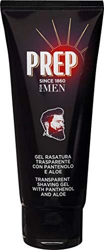 Prep for Men, Gel Rasatura Trasparente con Pantenolo e Aloe, Adatta Anche per le Pelli più Irritabili, Pacco da 6 x 100 ml