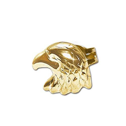 Clever Schmuck Goldener einzelner Herren Single Ohrring als Ohrstecker Adler als Adlerkopf 8 x 6 mm glänzend 333 GOLD 8 KARAT (1 Stück)