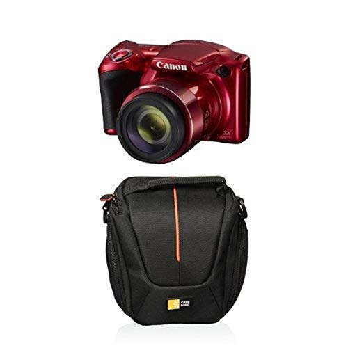Canon PowerShot SX420 Digital Camera Red with Case Logic Compact Camera Case
