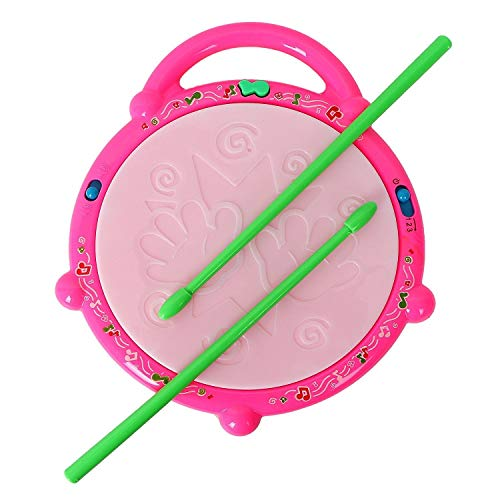 JMV® Kids Multicoloured Flash Light Drum Set with Music and Lights Electronic Touch Flash Visual 3D Lights