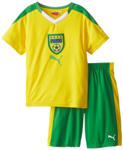 PUMA Little Boys' Toddler Country Perf Set-2, Cyber Yellow, 2T