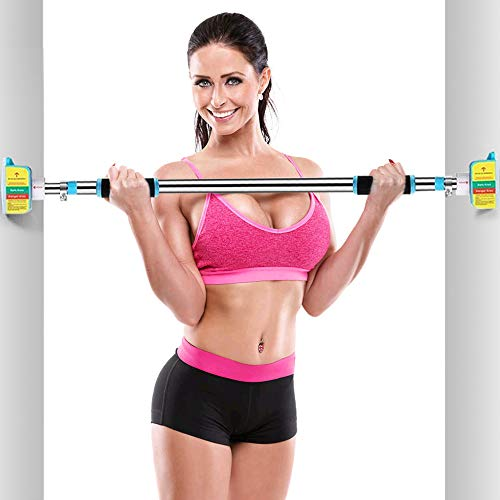 Bikuer Pull Up Bar Doorway Chin up Bar No Screw Installation Adjustable Width Locking Mechanism Exercise Fitness Workout Bar 30.7in-40.5in