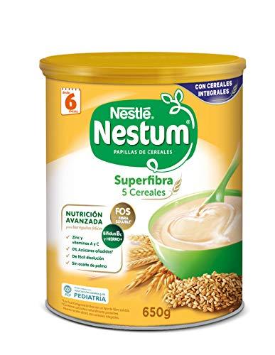 Nestlé Papillas NESTUM Cereales para bebé - 5 Cereales - 3 papillas de 650g -Total 1950g