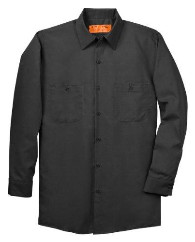 Red Kap Men's Size Industrial Work Shirt, Regular Fit, Long Sleeve, Charcoal, 3X-Large/Tall