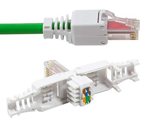 Conector de Odedo®, 2unidades, categoría 6, UTP RJ45, para cable de conexión,...