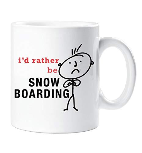 Heren Ik zou liever worden Snowboarden Mok Sneeuw Boarding cadeau Vriend Vriend Man Dad Kerstmis Nieuwigheid Humor Plezier
