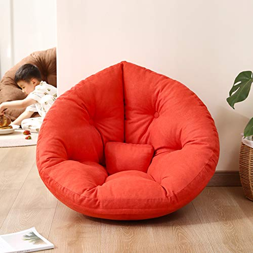 Xin Hai Yuan Adults Children Bean Bag Chair with Filling Multi-Function Lazy Sofa Folding Gaming Mat Beanbag Bed Futon Recliner,Orange,S