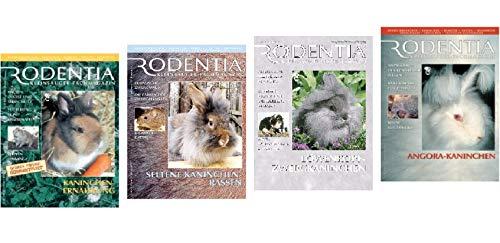 4 Rodentia Kleinsäuger Fachmagazine über Hasen 1. Kaninchen Ernährung & 2. Seltene Kaninchen Rassen & 3. Löwenkopfzwergkaninchen & 4. Angora Kaninchen