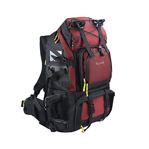 Kamerarucksäcke Camcordertaschen SLR Digitalkamera Taschen 32 * 17 * 46cm Wasserdicht Rucksack Für Kameras Stativ Objektiv Usw (Color : Red)