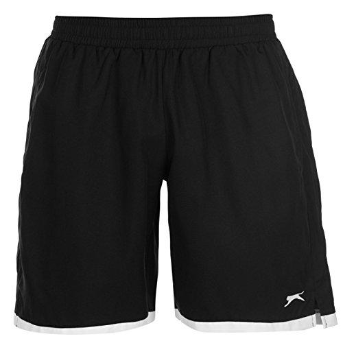 Slazenger Herren Court Tennis Shorts Taschen Schwarz L