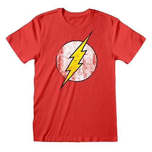 DC Comics T-Shirt Flash Logo Size XL Heroes Shirts