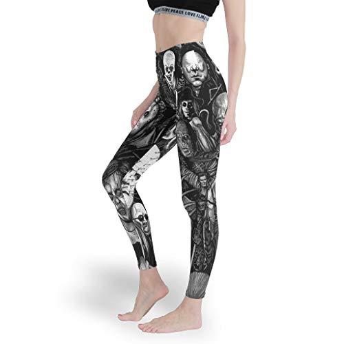 Mädchen Bequem Leggings Weich Yoga Hosen Damen Capris Tights für Yoga White 3XL