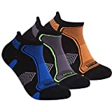 Athletic Wicking Moisture Ankle Socks, Three street Unisex Lightweight Cushion Tab Low Cut Golf Running Socks with Padding, Summer Training Cycling Tennis Smell Free Short No Show Socks 3 Pack S