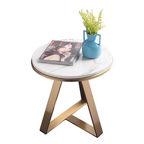 CAIM Landelijke boerderij ronde metalen koffietafel woonkamer met goud bedrukte metalen frame voor woonkamer meubels salontafel