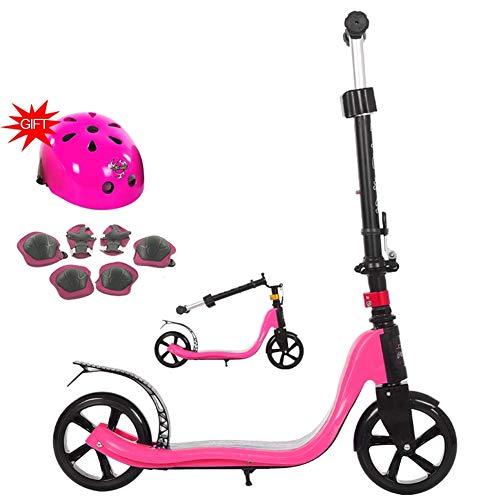 SZNWJ Ygqtbc Mangosta traza Kick Scooter Plegable de la Serie, Dispone de liberación rápida de Altura Ajustable Manillar y Pata de Cabra con Las Ruedas, múltiples Colores Disponibles (Color : Pink)