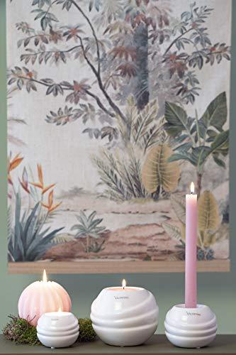 Valentino Wohnideen Lichtkugel Tajo 8cm weiß glasiert, Keramik