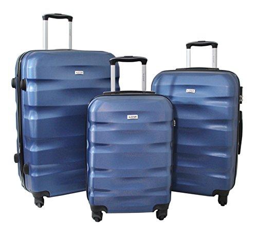 Trole ALISTAIR FLY - Juego de 3 Maletas ABS extremista Ligero , 4 ruedas , Bleu