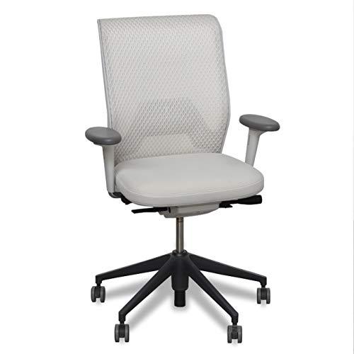 Silla ergonómica ID Mesh de Vitra, de Antonio Citterio, asiento tapizado en'Diamond Mesh', regulación el atura de su asiento y brazos, soporte lumbar y la fuerza de apoyo del respaldo.