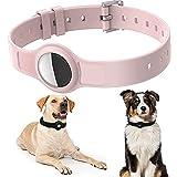 """Collare per cani per Airtags, Collare per Gatti, Collare per Cani per Airtags GPS Tracking Cover Protettiva in Silicone per Cani e Gatti per Airtags Lunghezza Regolabile 8,2 """"- 15,5"""""""