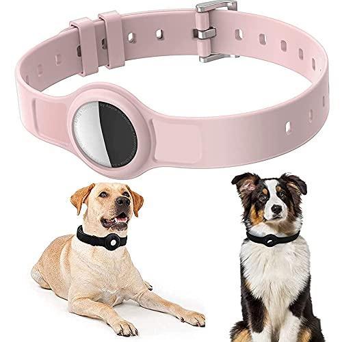 Collare per cani per Airtags, Collare per Gatti, Collare per Cani per Airtags GPS Tracking Cover Protettiva in Silicone per Cani e Gatti per Airtags Lunghezza Regolabile 8,2 '- 15,5'