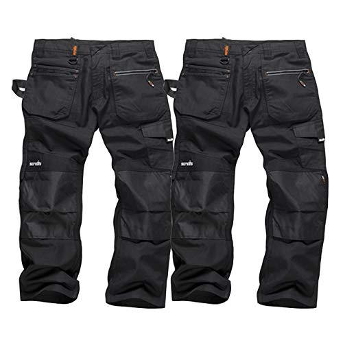 Scruffs Trade Pantaloni Lavoro Pantaloni Marrone Men/'s Multi Ginocchio Pad Tasche