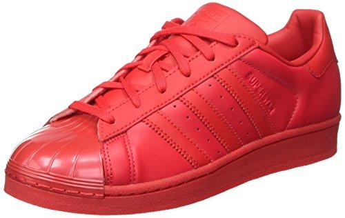adidas Damen Superstar Glossy Toe Basketballschuhe, Rot (Rayred/Rayred/Cblack), 36 2/3 EU