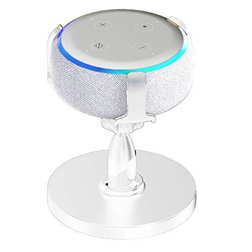 SoulQ Support de table pour Echo Dot 3ème génération, support réglable à 360 ° pour enceinte intelligente, visibilité et apparence idéales, accessoires astucieux (blanc)