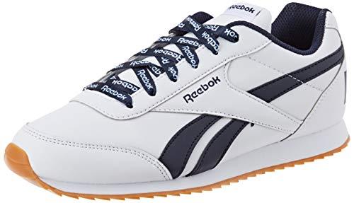Reebok Royal CLJOG 2, Zapatillas de Trail Running Hombre, Multicolor (White/Collegiate Navy 000), 38.5 EU