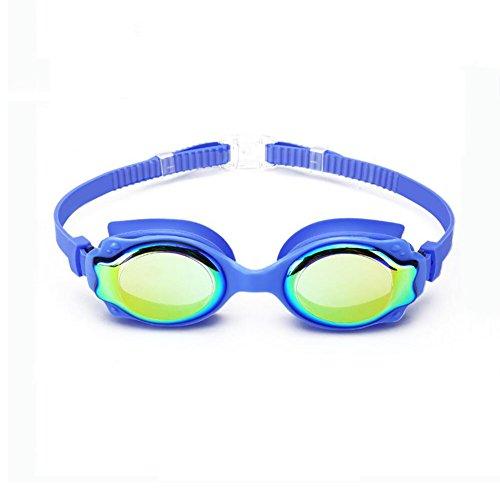 honing zwemmen bril kinderen tieners water sport anti-mist hd plating bril Blauw