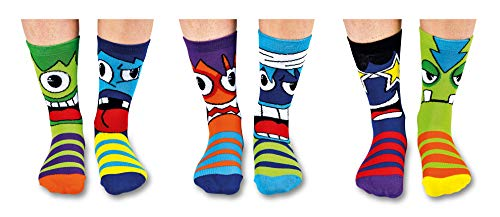 United Oddsocks - Recuadro 6 Odd calcetines para los muchachos- Mashers
