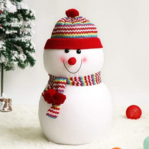 Longsing Muñeco de Nieve de Navidad Decoración de Navidad Muñeca de Nieve Peluches de Peluche Muñeca Suave...