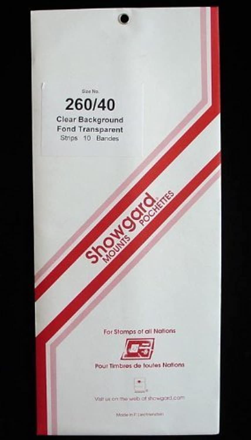 Showgard Pre-Cut Clear Stamp Mounts Size 260 40 by Showgard