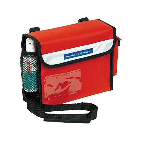 Holthaus Medical Sanitätsumhängetasche Erste-Hilfe-Tasche Notfall, leer, rot, 24x19x8cm