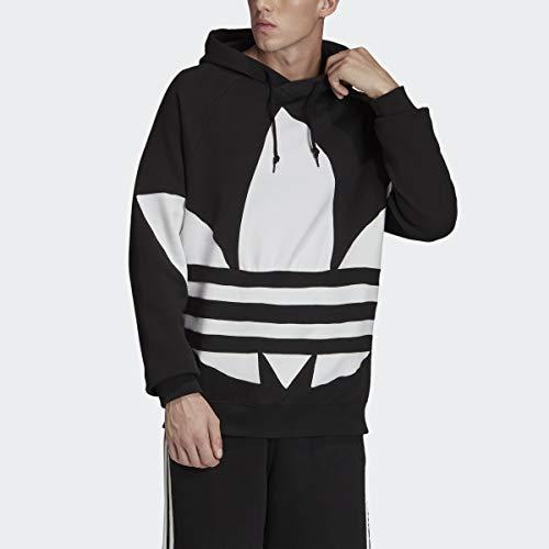 adidas Originals Men's Big Trefoil Hoodie Sweatshirt, Black, XL